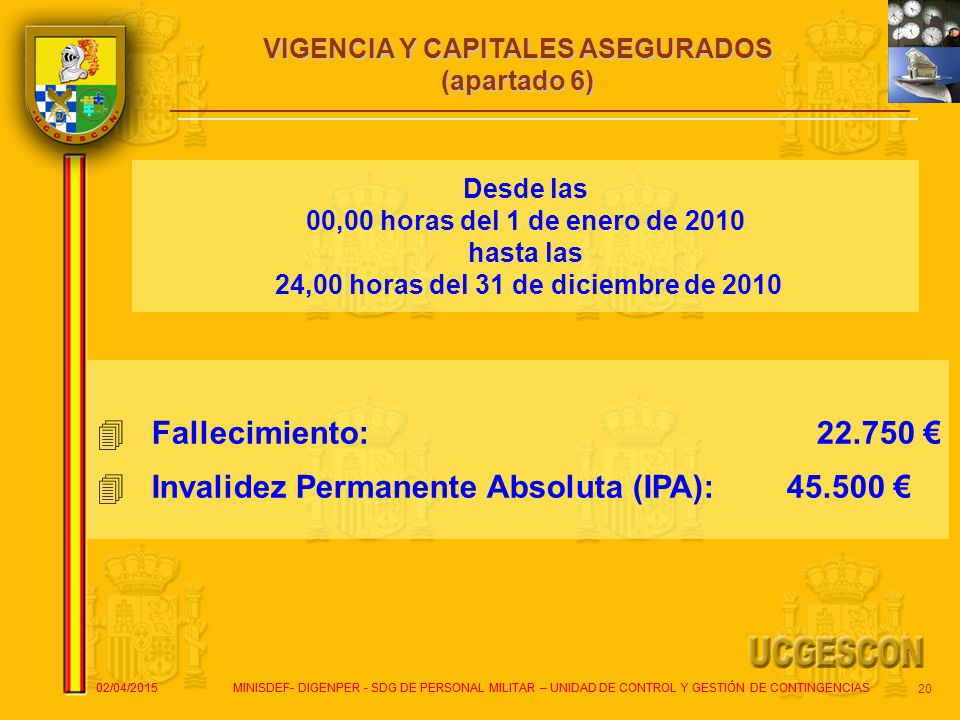 Invalidez Permanente Absoluta (IPA): 45.500 €