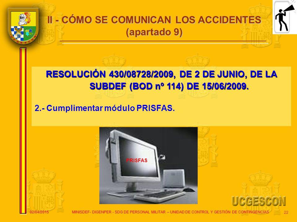 II - CÓMO SE COMUNICAN LOS ACCIDENTES
