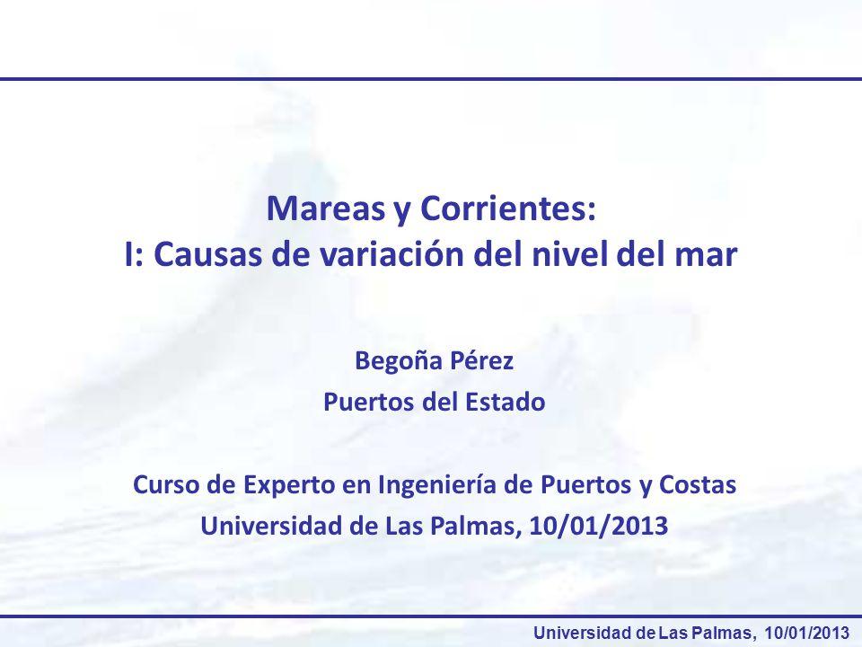Mareas y Corrientes: I: Causas de variación del nivel del mar