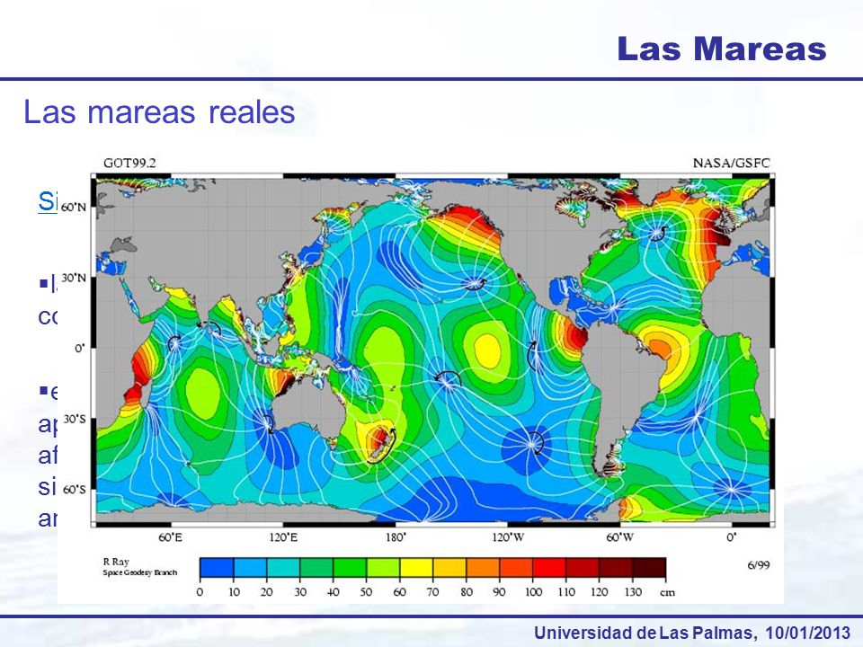 Las Mareas Las mareas reales Sistema anfidrómico: