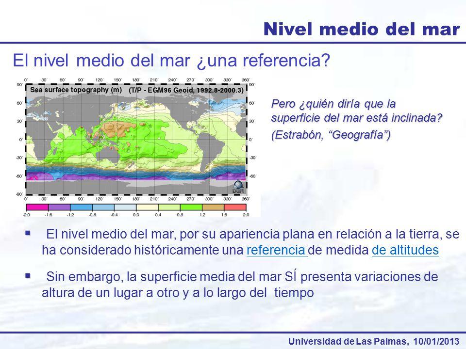 El nivel medio del mar ¿una referencia