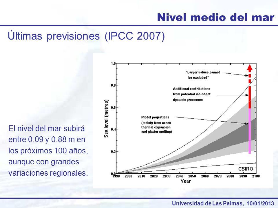 Últimas previsiones (IPCC 2007)
