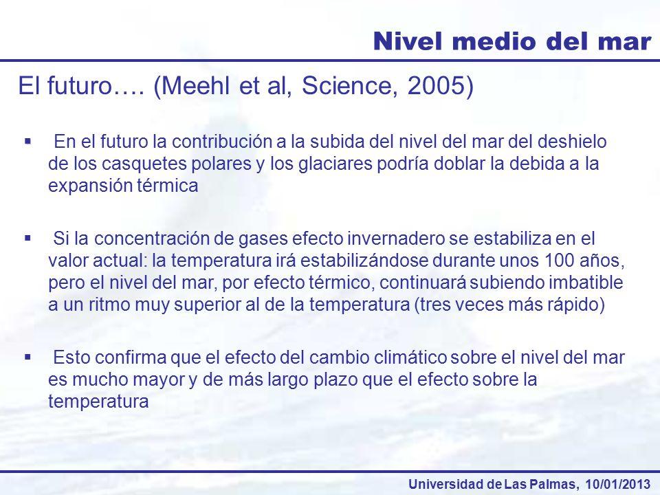 El futuro…. (Meehl et al, Science, 2005)