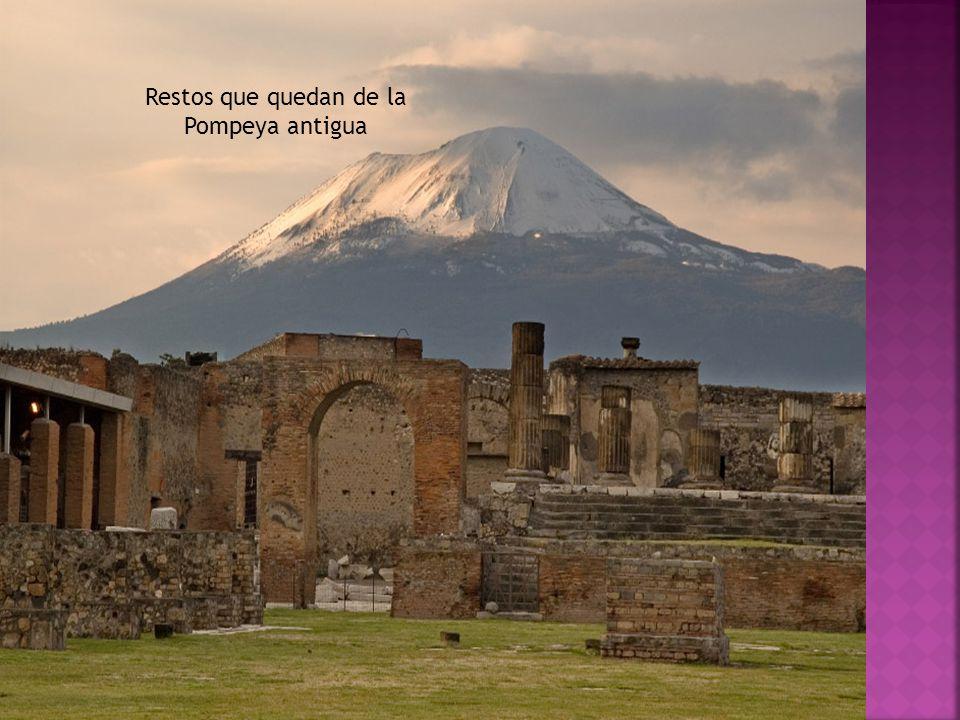 Restos que quedan de la Pompeya antigua