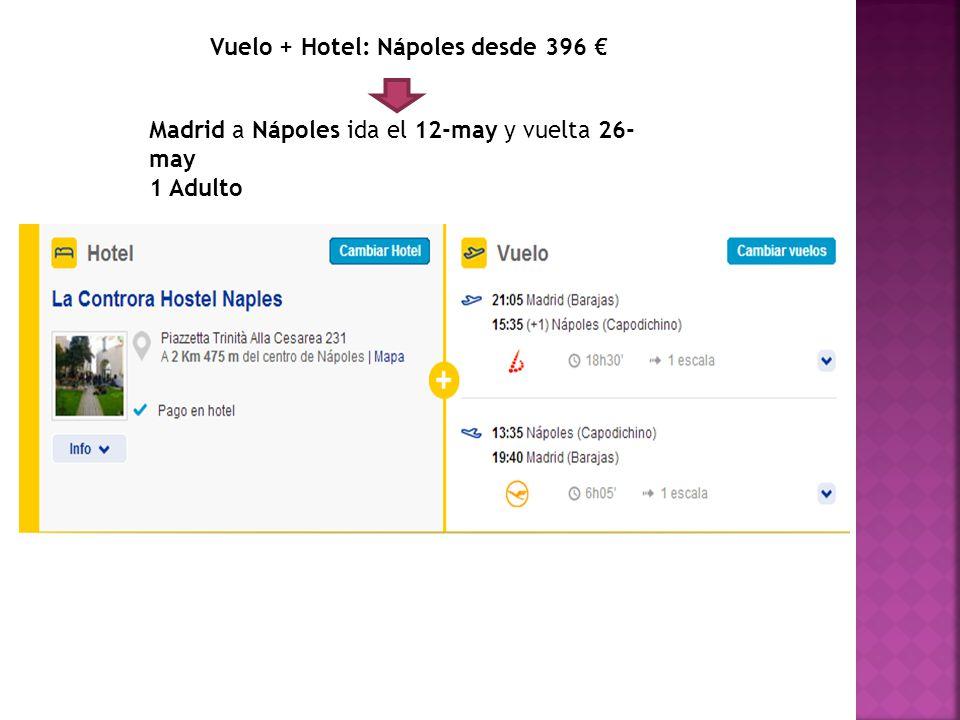 Vuelo + Hotel: Nápoles desde 396 €