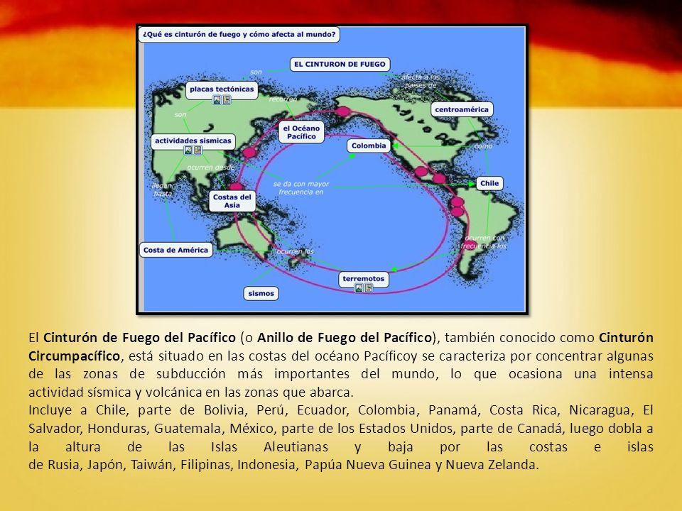 El Cinturón de Fuego del Pacífico (o Anillo de Fuego del Pacífico), también conocido como Cinturón Circumpacífico, está situado en las costas del océano Pacíficoy se caracteriza por concentrar algunas de las zonas de subducción más importantes del mundo, lo que ocasiona una intensa actividad sísmica y volcánica en las zonas que abarca.