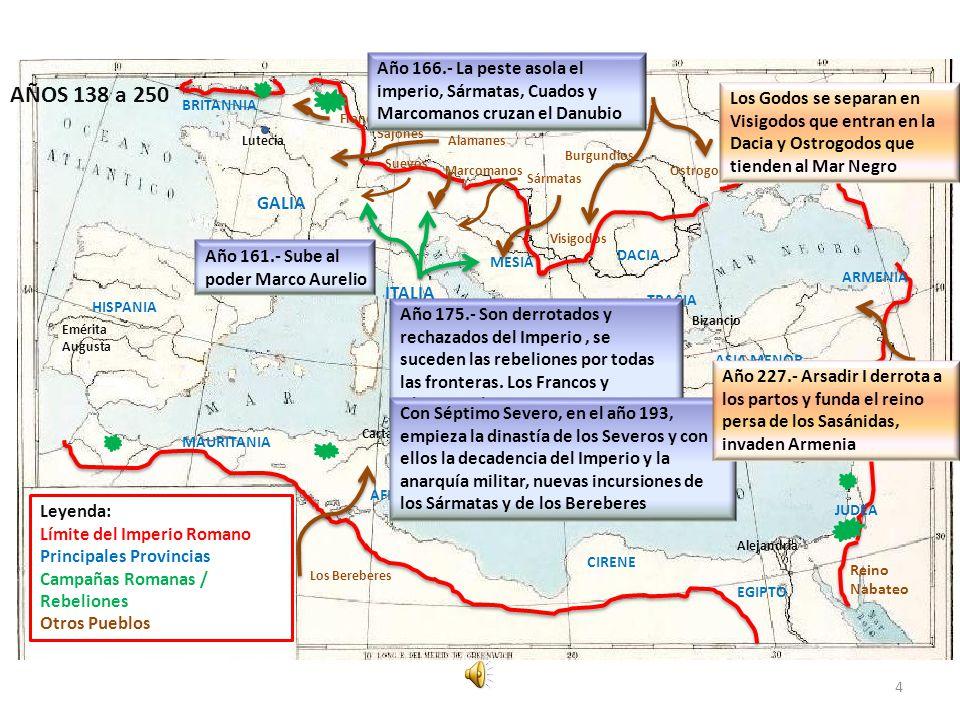 Año 166.- La peste asola el imperio, Sármatas, Cuados y Marcomanos cruzan el Danubio