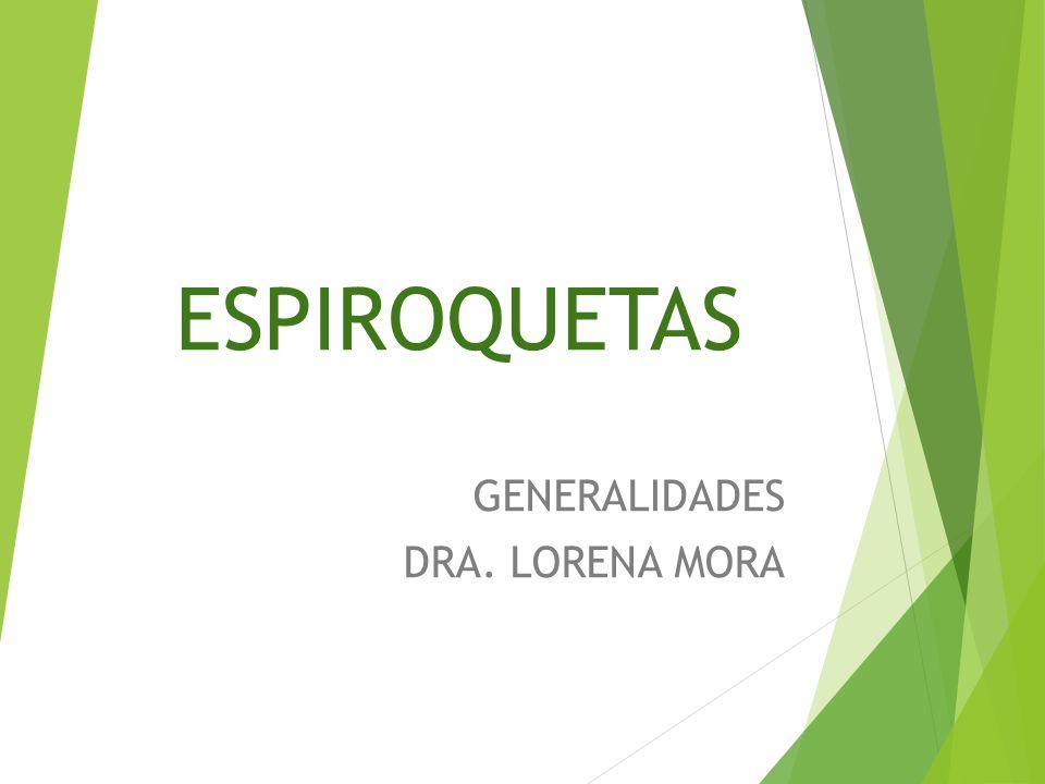 GENERALIDADES DRA. LORENA MORA
