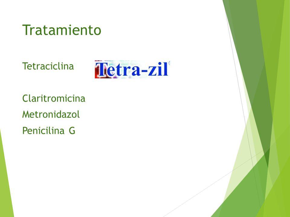 Tratamiento Tetraciclina Claritromicina Metronidazol Penicilina G