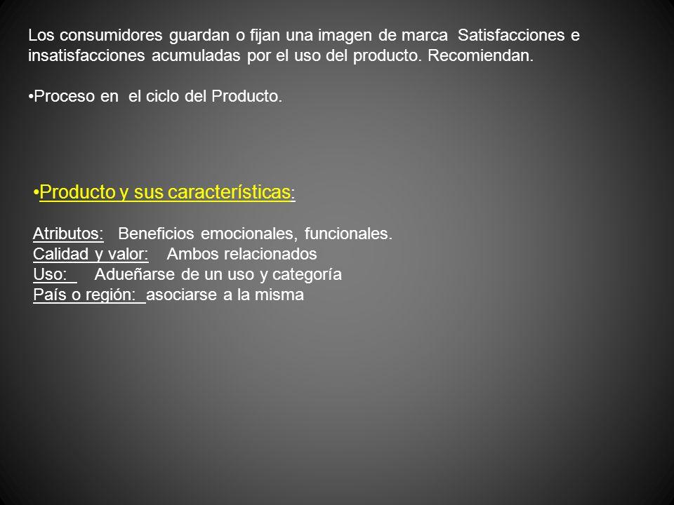 Producto y sus características: