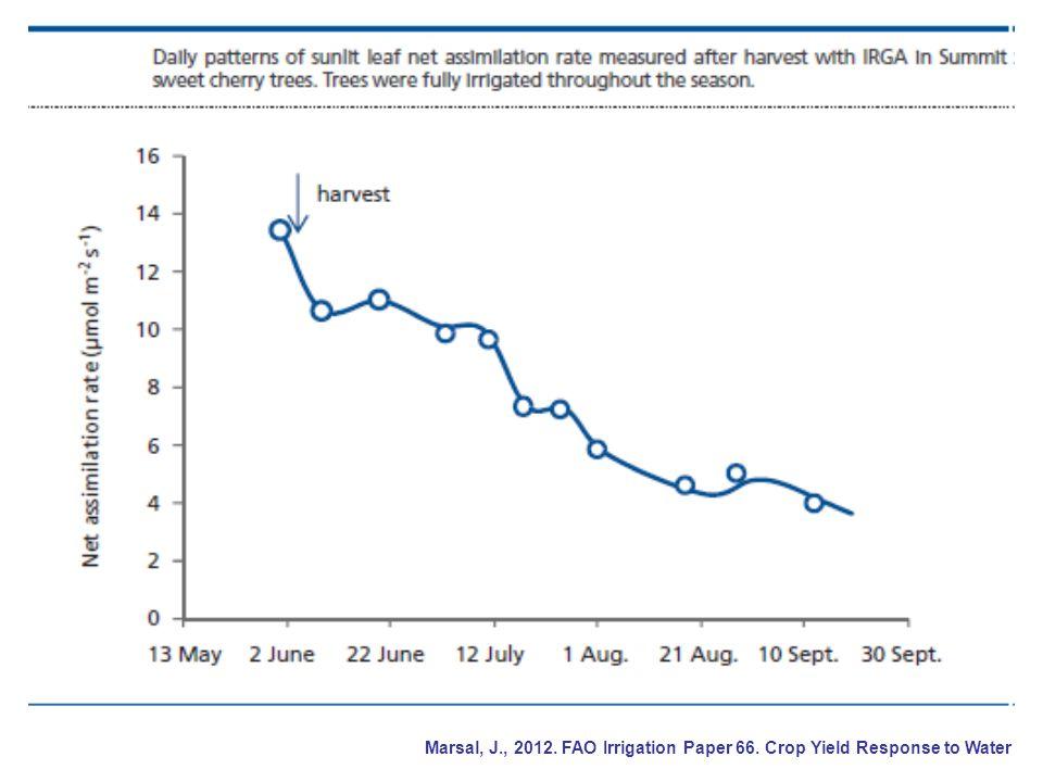 Marsal, J. , 2012. FAO Irrigation Paper 66