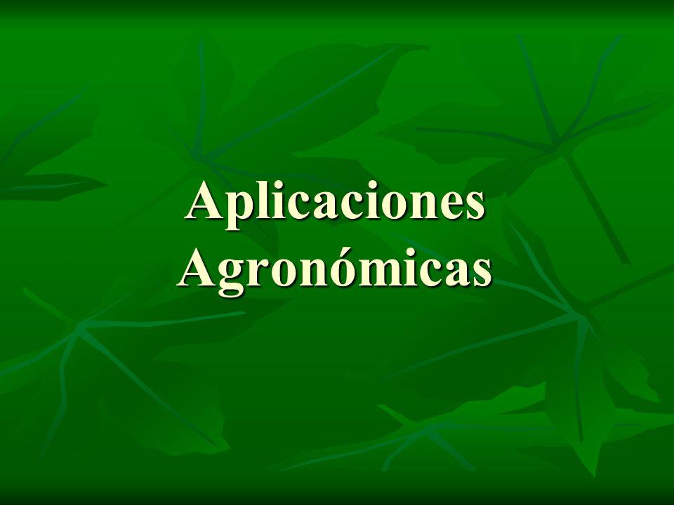 Aplicaciones Agronómicas