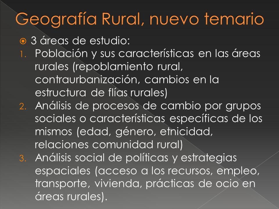 Geografía Rural, nuevo temario