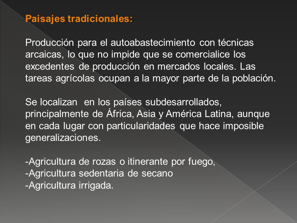 Paisajes tradicionales: