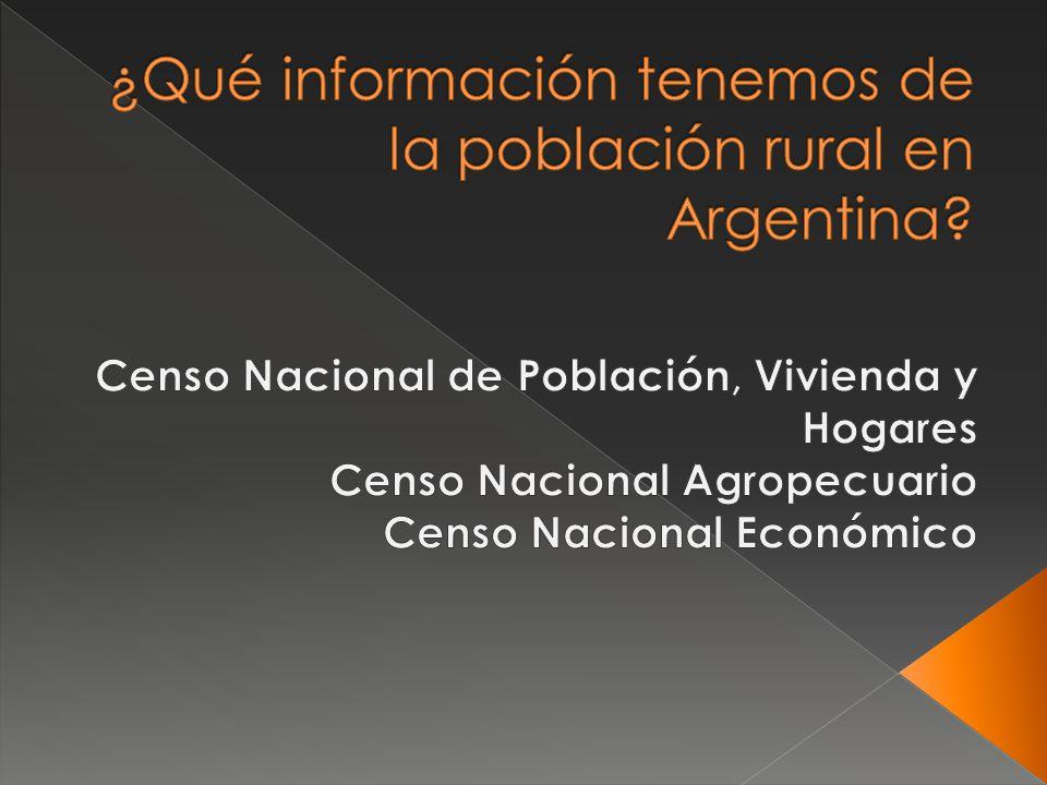 ¿Qué información tenemos de la población rural en Argentina