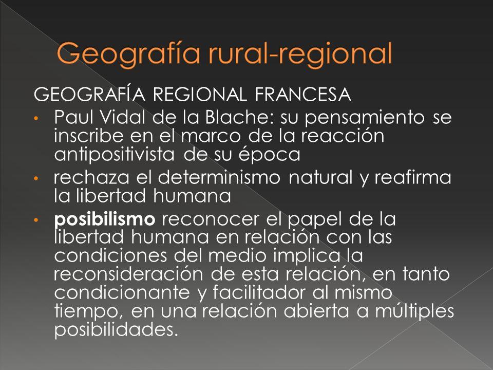 Geografía rural-regional