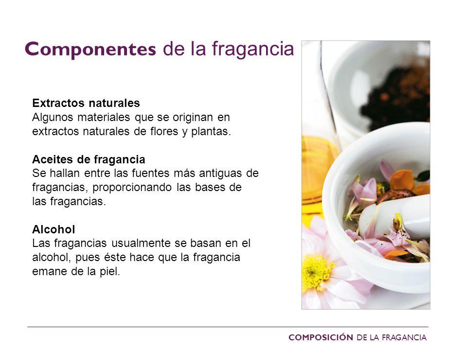 Componentes de la fragancia