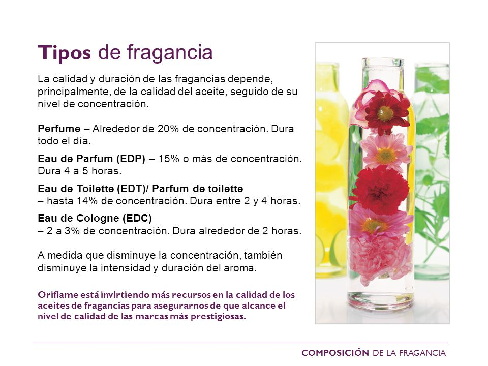 Tipos de fragancias
