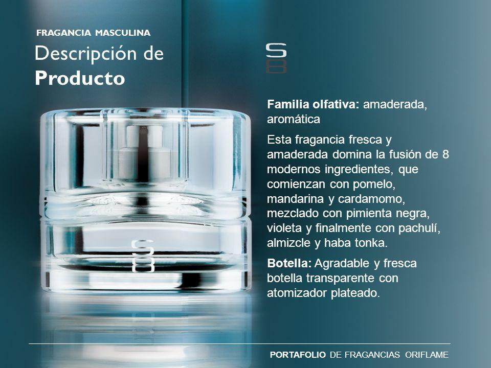 Descripción de Producto Familia olfativa: amaderada, aromática