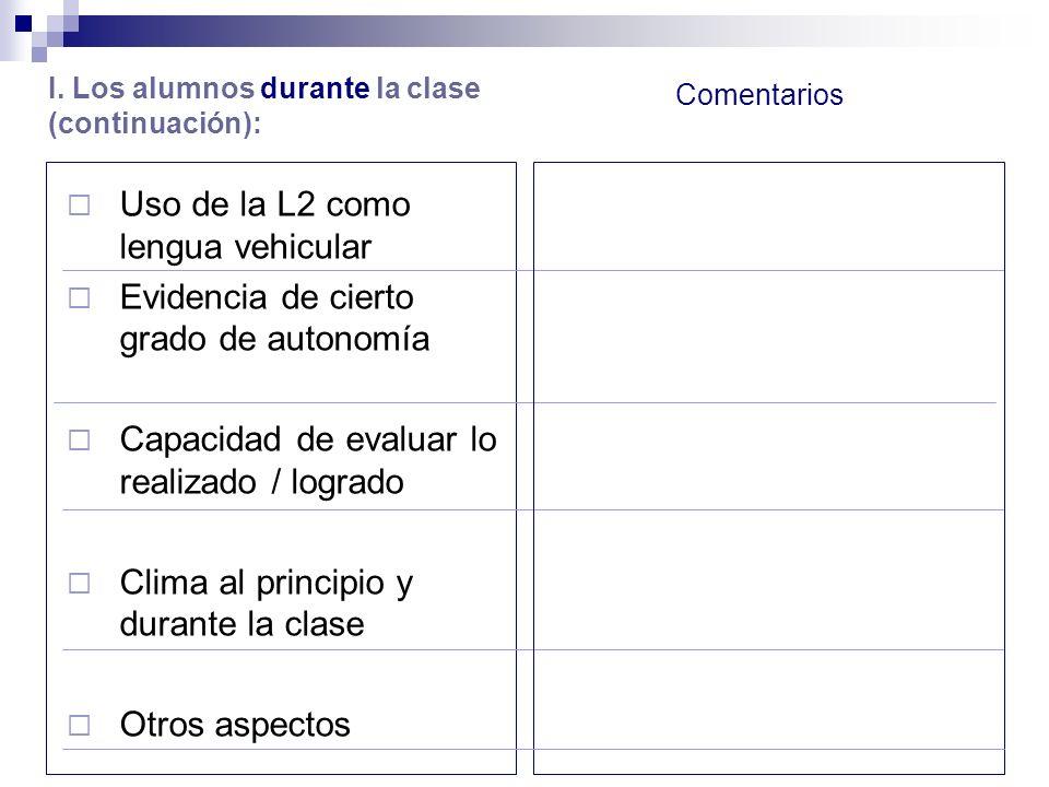 Uso de la L2 como lengua vehicular