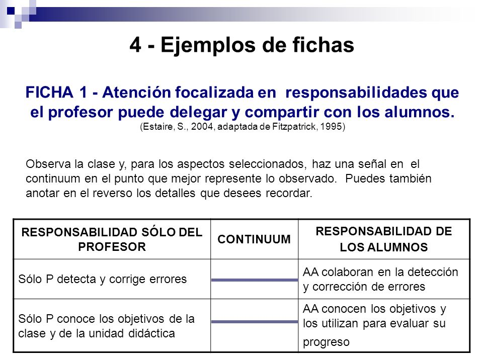 4 - Ejemplos de fichas