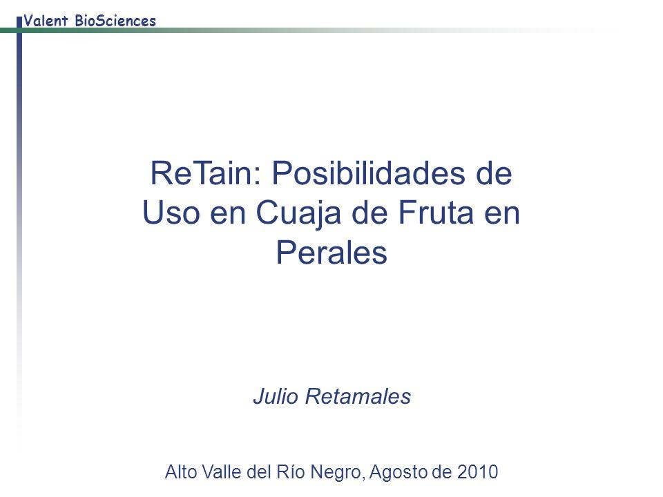 ReTain: Posibilidades de Uso en Cuaja de Fruta en Perales