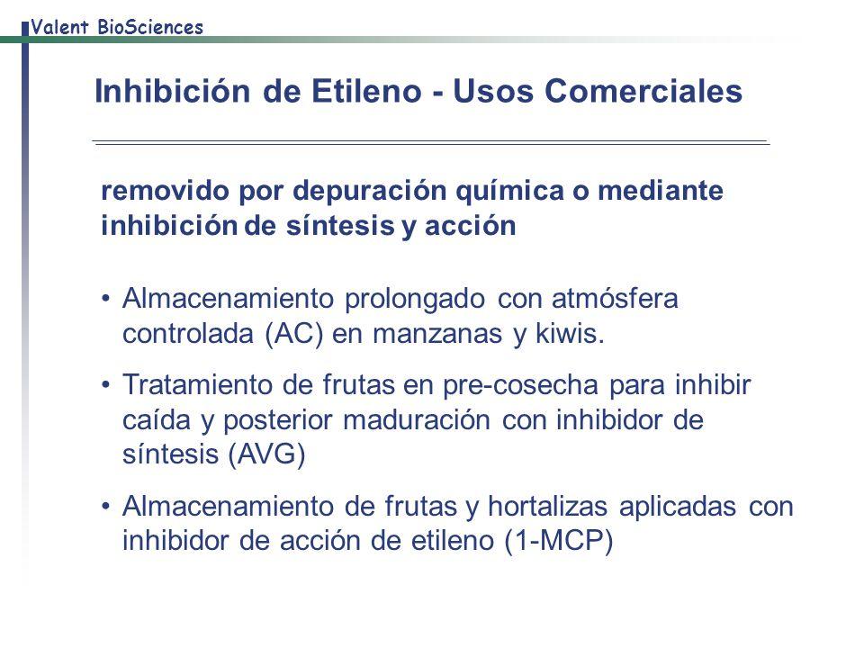 Inhibición de Etileno - Usos Comerciales