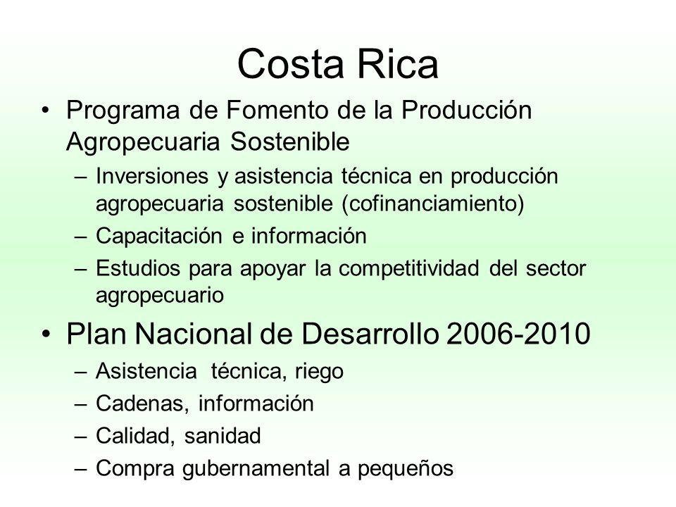 Costa Rica Plan Nacional de Desarrollo 2006-2010