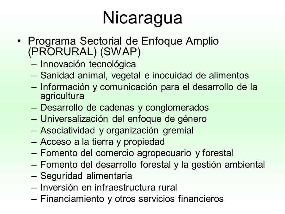 Nicaragua Programa Sectorial de Enfoque Amplio (PRORURAL) (SWAP)
