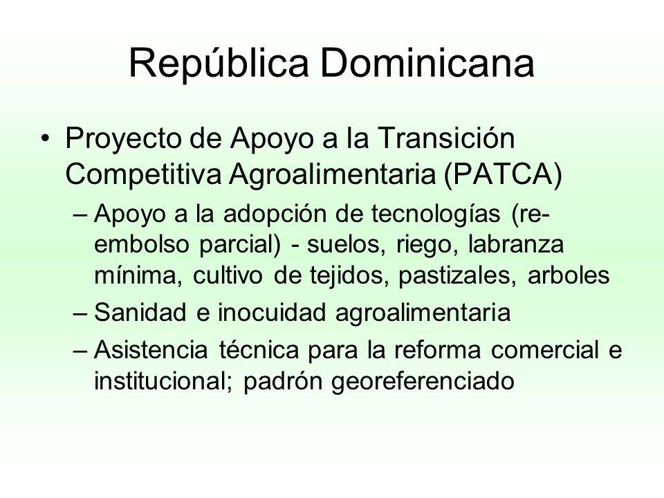 República Dominicana Proyecto de Apoyo a la Transición Competitiva Agroalimentaria (PATCA)