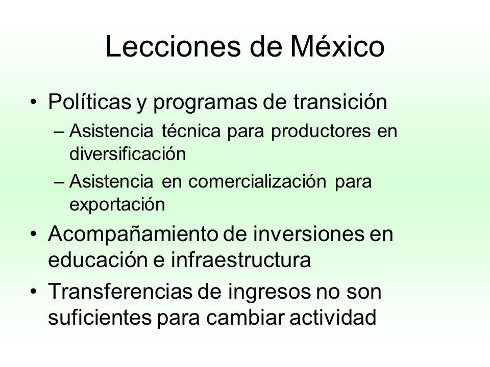 Lecciones de México Políticas y programas de transición
