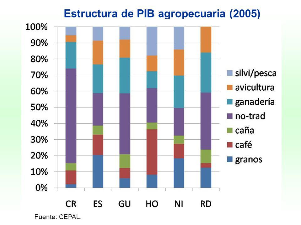 Estructura de PIB agropecuaria (2005)