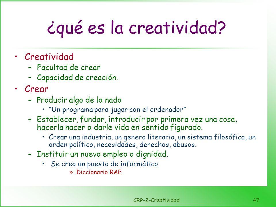 Características de la gente creativa
