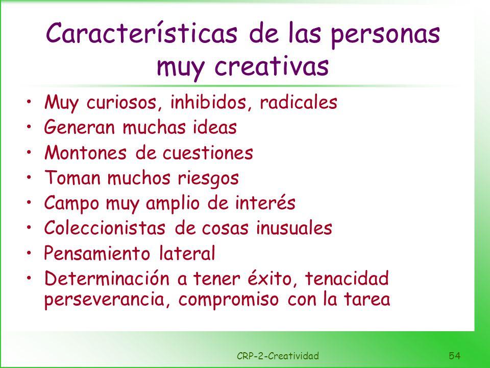 Características de las personas muy creativas