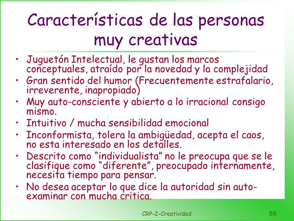 Rasgos negativos de la creatividad