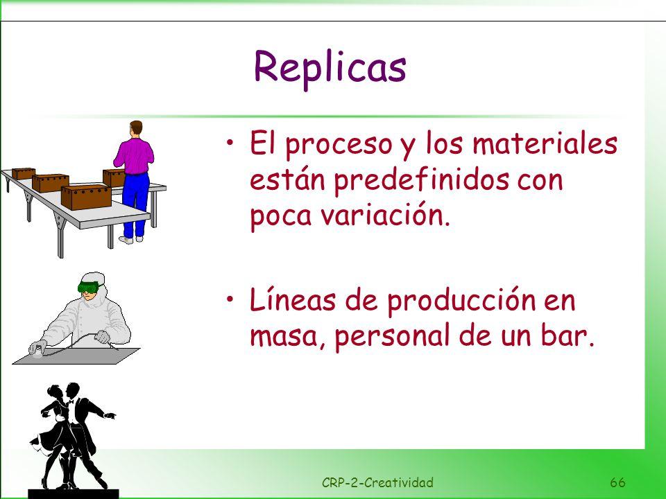 Formulación Los procesos y los materiales estan claramente definidos, se permiten variaciones dentro de unos limites acordados, incluso se agradecen.
