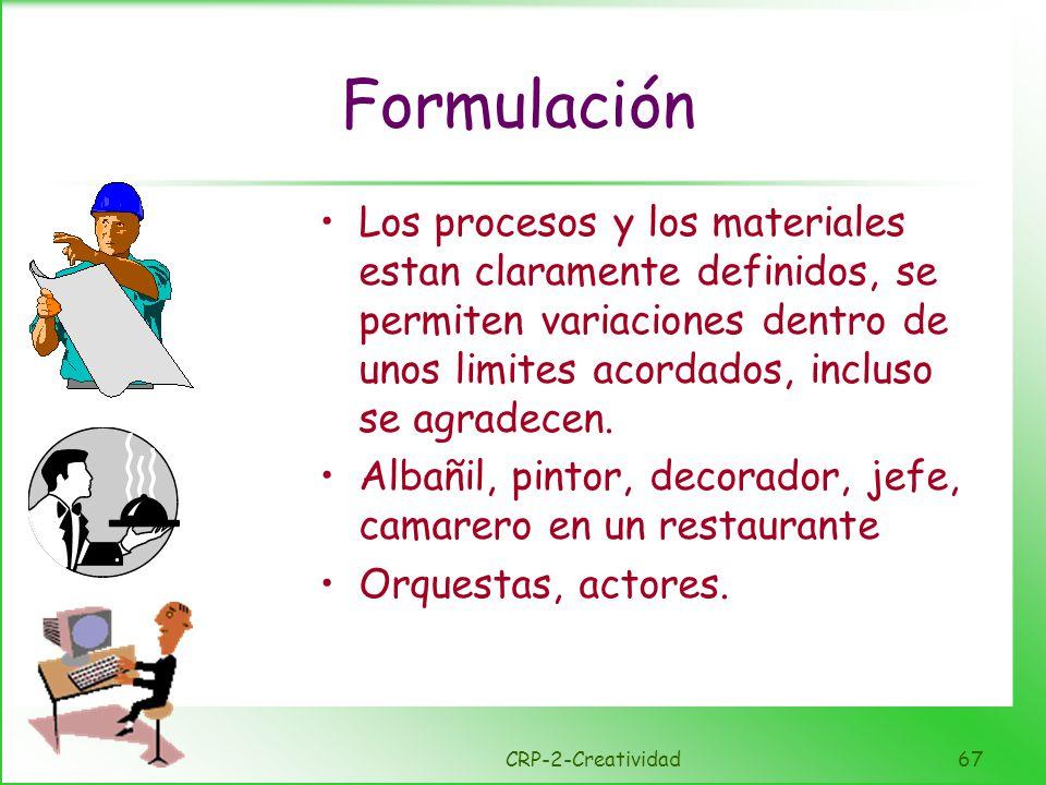 Innovación Los materiales y sus procesos son discrecionales pero el trabajo se delimita por ciertas convenciones.