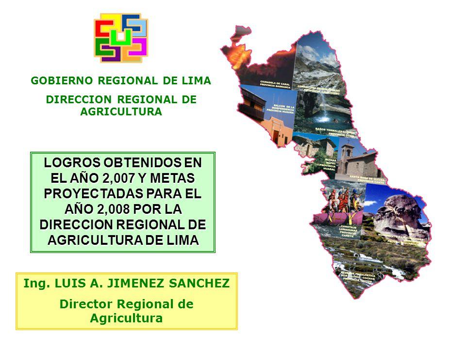 GOBIERNO REGIONAL DE LIMA DIRECCION REGIONAL DE AGRICULTURA