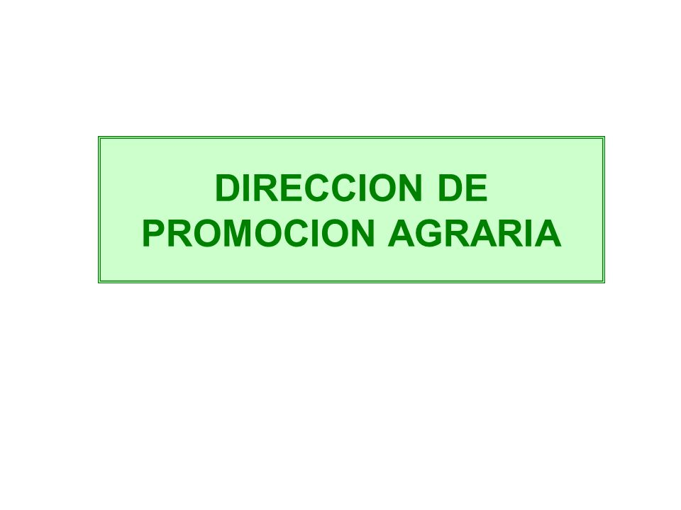 DIRECCION DE PROMOCION AGRARIA