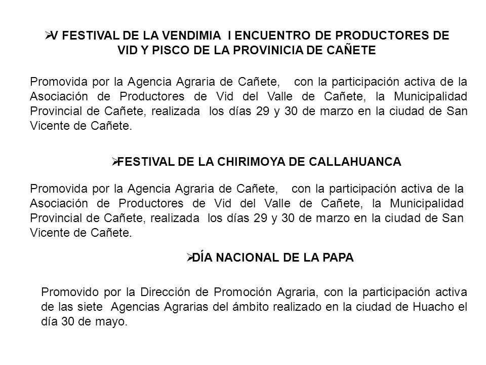 FESTIVAL DE LA CHIRIMOYA DE CALLAHUANCA