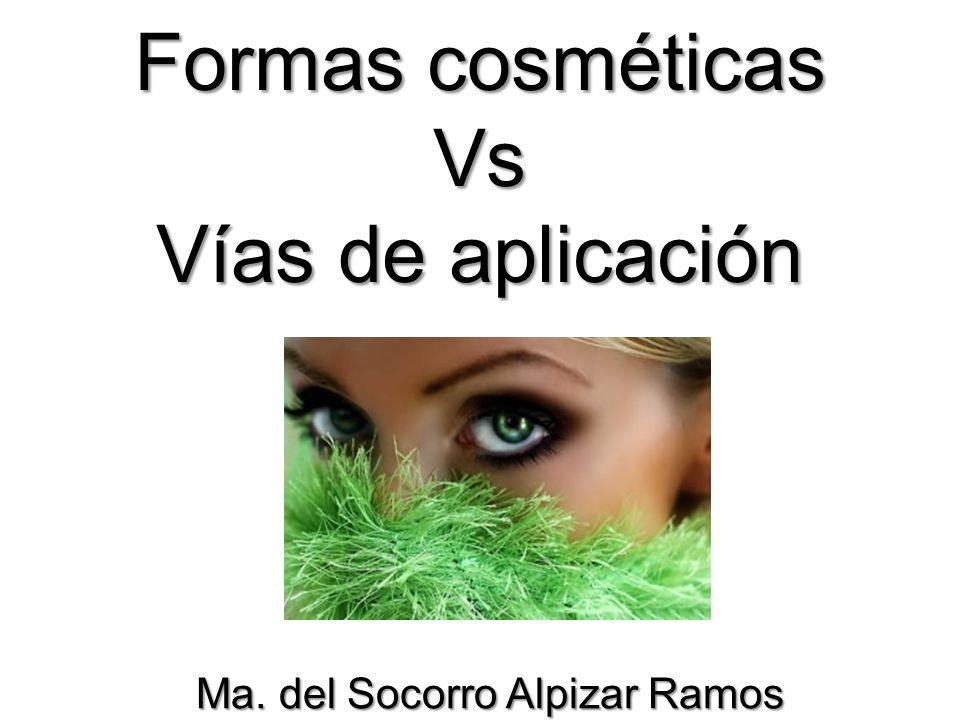 Formas cosméticas Vs Vías de aplicación