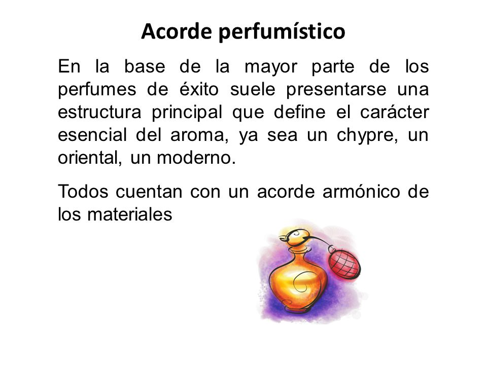 Acorde perfumístico