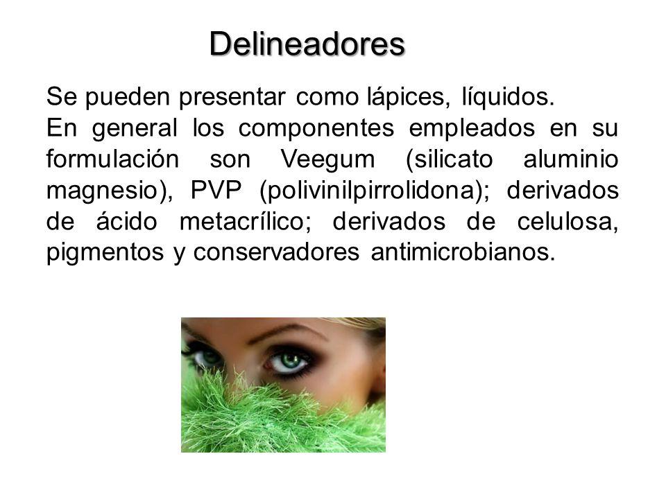 Delineadores Se pueden presentar como lápices, líquidos.