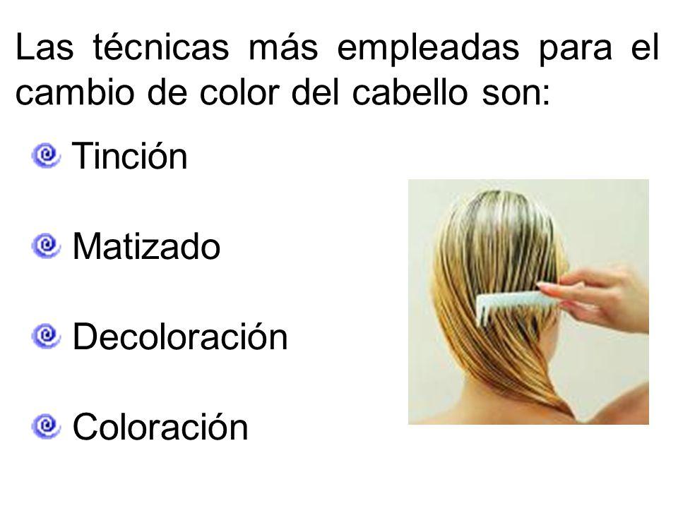 Las técnicas más empleadas para el cambio de color del cabello son: