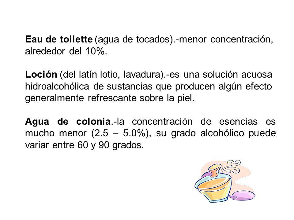 Eau de toilette (agua de tocados)