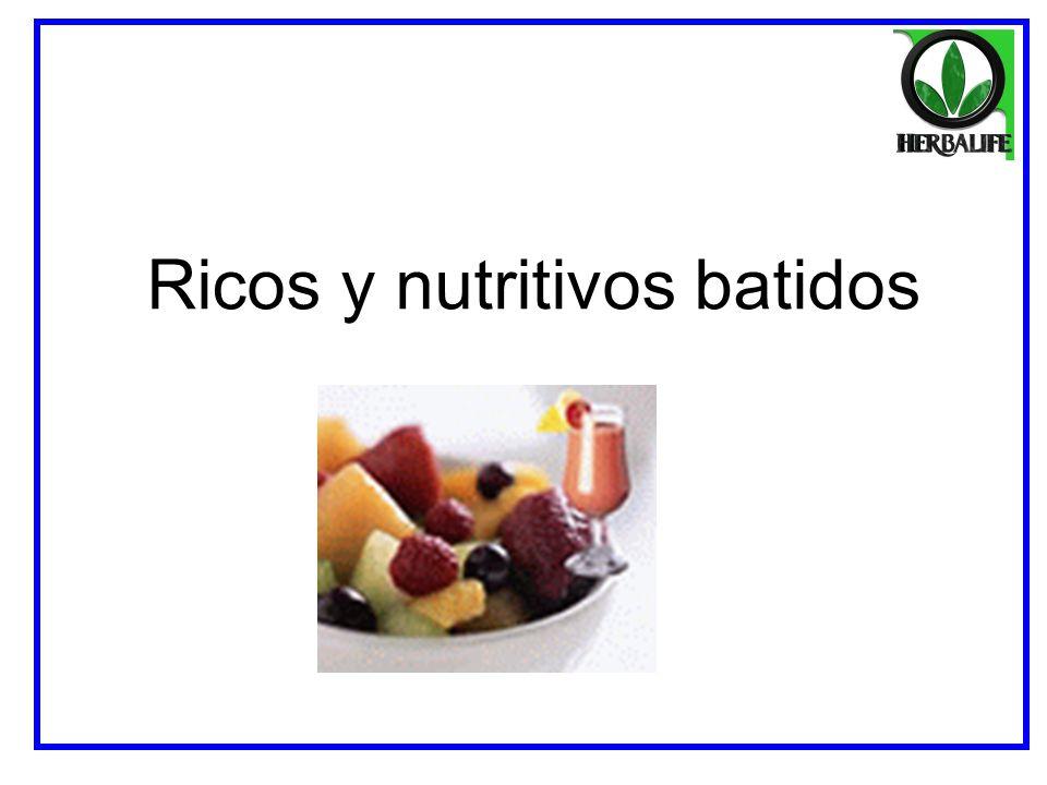Ricos y nutritivos batidos