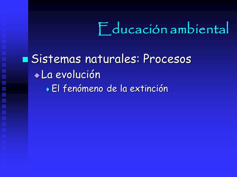 Educación ambiental Sistemas naturales: Procesos La evolución