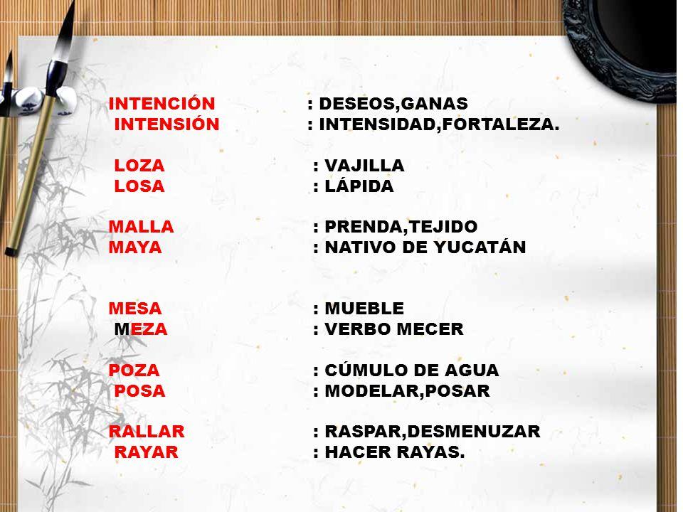 INTENCIÓN : DESEOS,GANAS