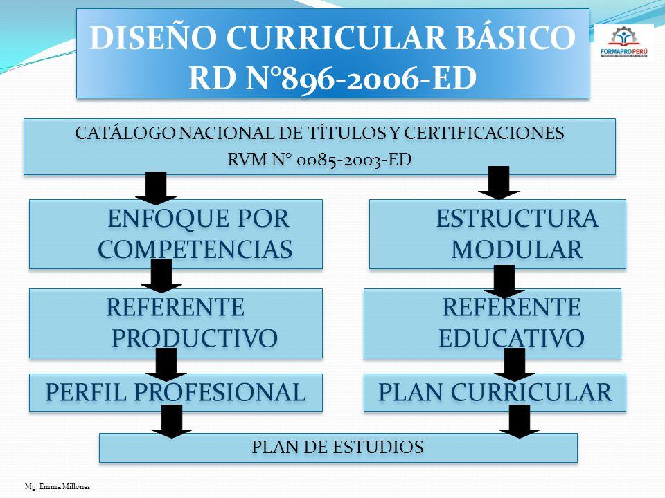 DISEÑO CURRICULAR BÁSICO RD N°896-2006-ED