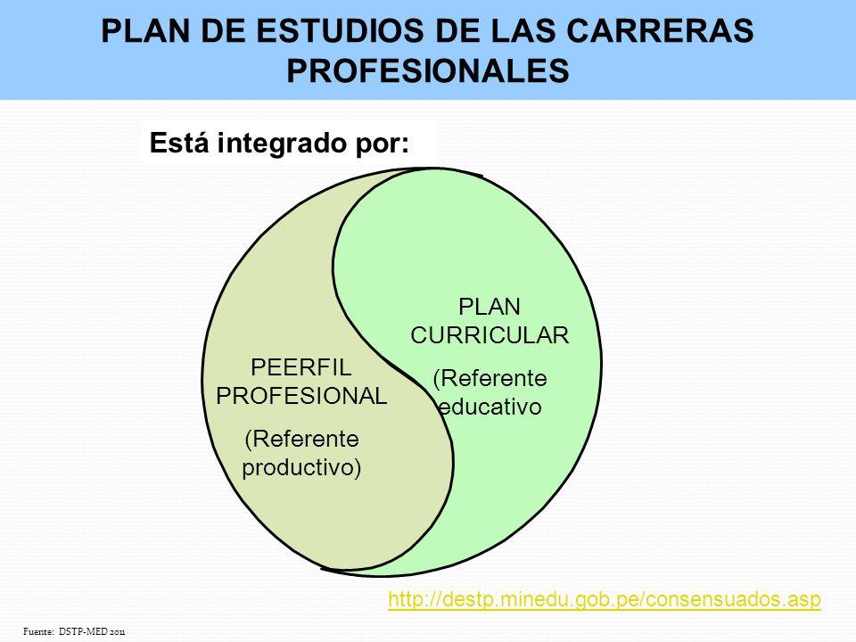 PLAN DE ESTUDIOS DE LAS CARRERAS